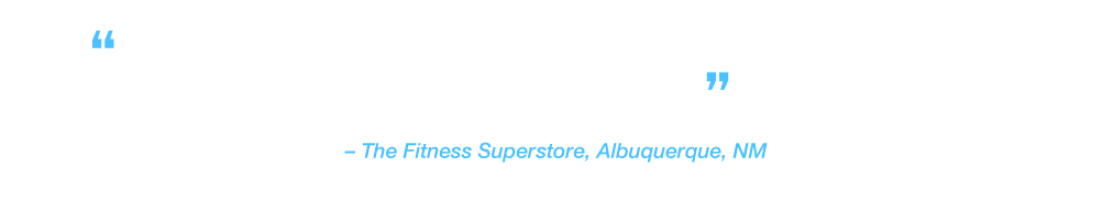 """""""I can't believe how seamless and responsive it (entertainment treadmill) is to use, just like your phone or tablet."""" The Fitness Superstore, Albuquerque, NM"""