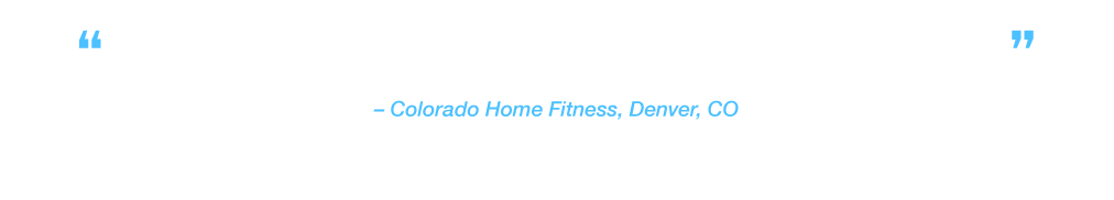 """Hundreds of virtual running scenes through YouTube and other preloaded apps."" Colorado Home Fitness, Denver, CO"